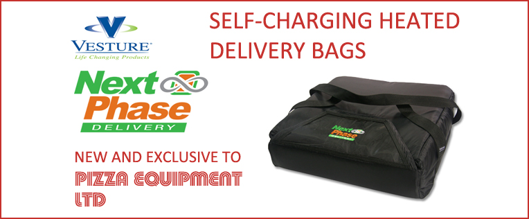 Vesture Heated Delivery Systems - Exclusive to Pizza Equipment Ltd